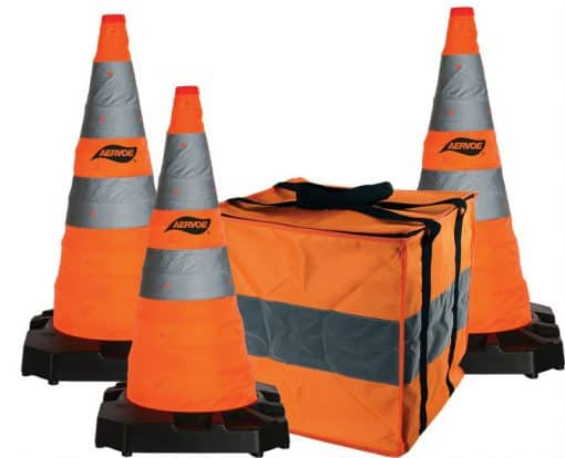 """28"""" Collapsible safety cone kit 3 cone"""