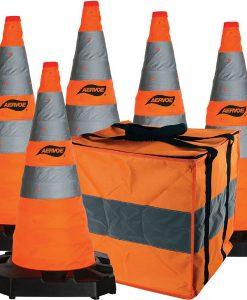 "5 pack kit 28""collapsible safety cones"