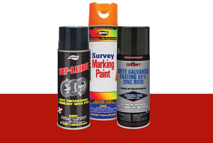 Aervoe / crown Paint and Lubricant sample